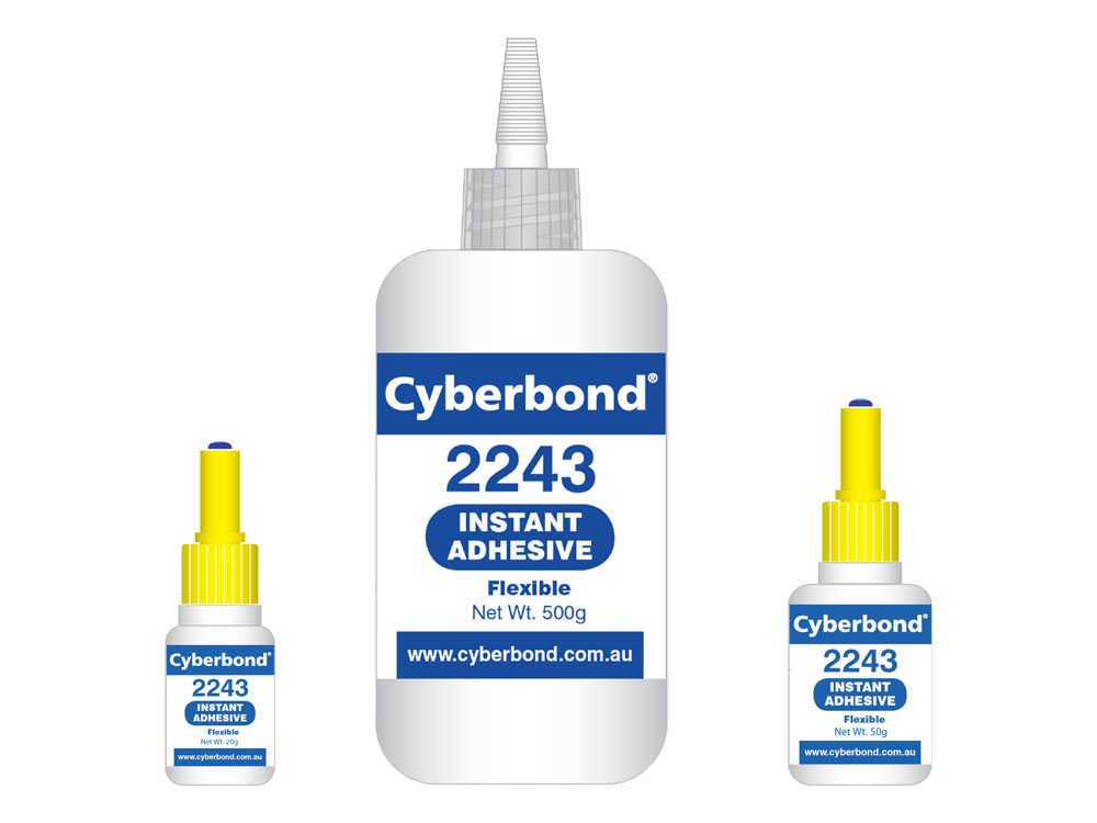 Cyberbond 2243 Instant Adhesive, Flexible / High Temperature